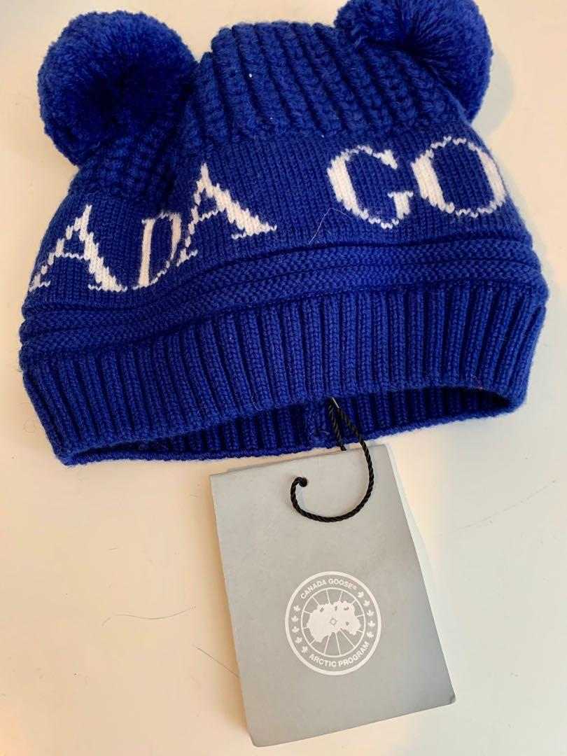 Brand new authentic Canada Goose baby double Pom wool toque