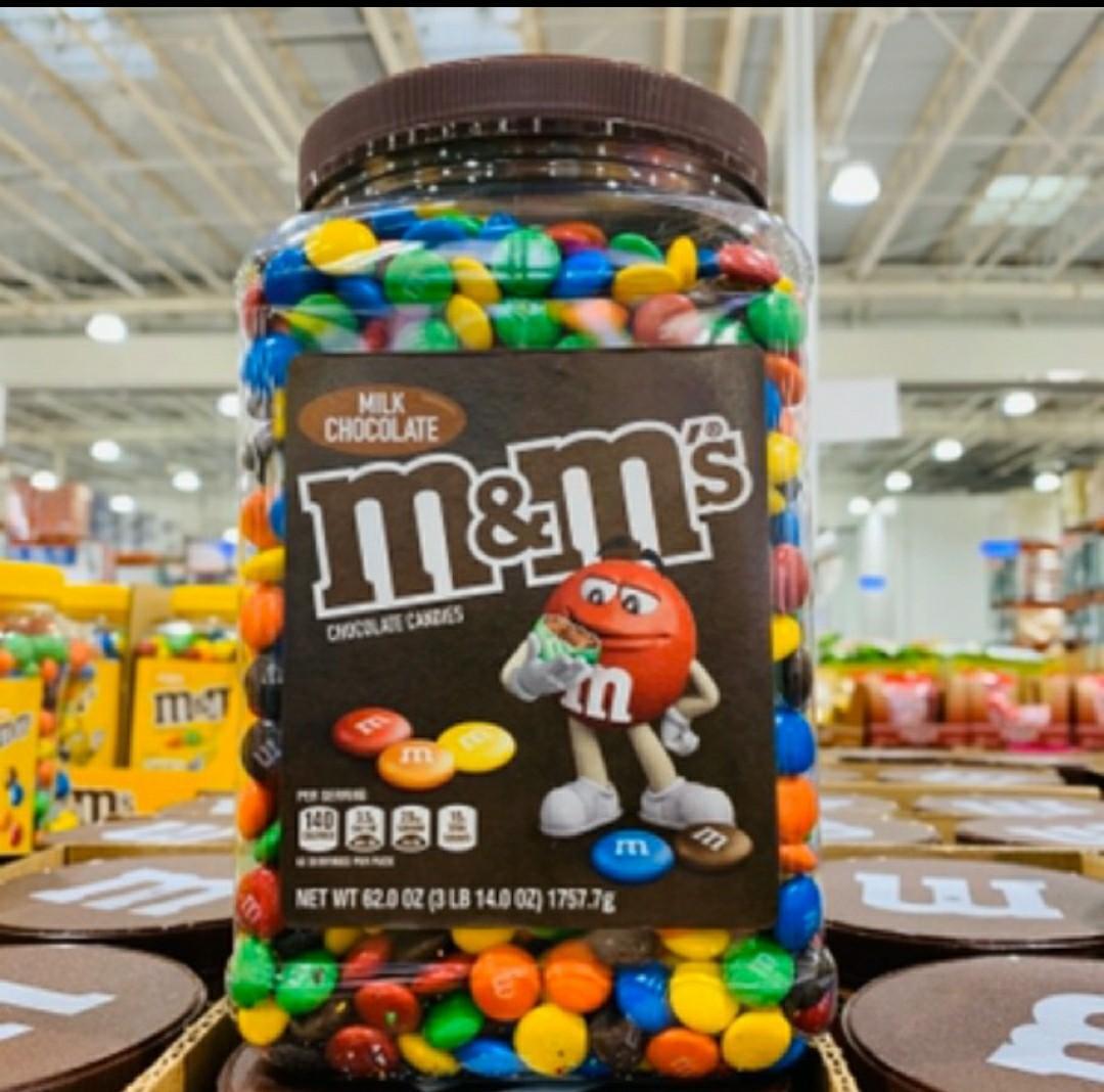 Costco 好事多M&M's 罐裝 牛奶巧克力 1757.7公克 m&m 代購 代買