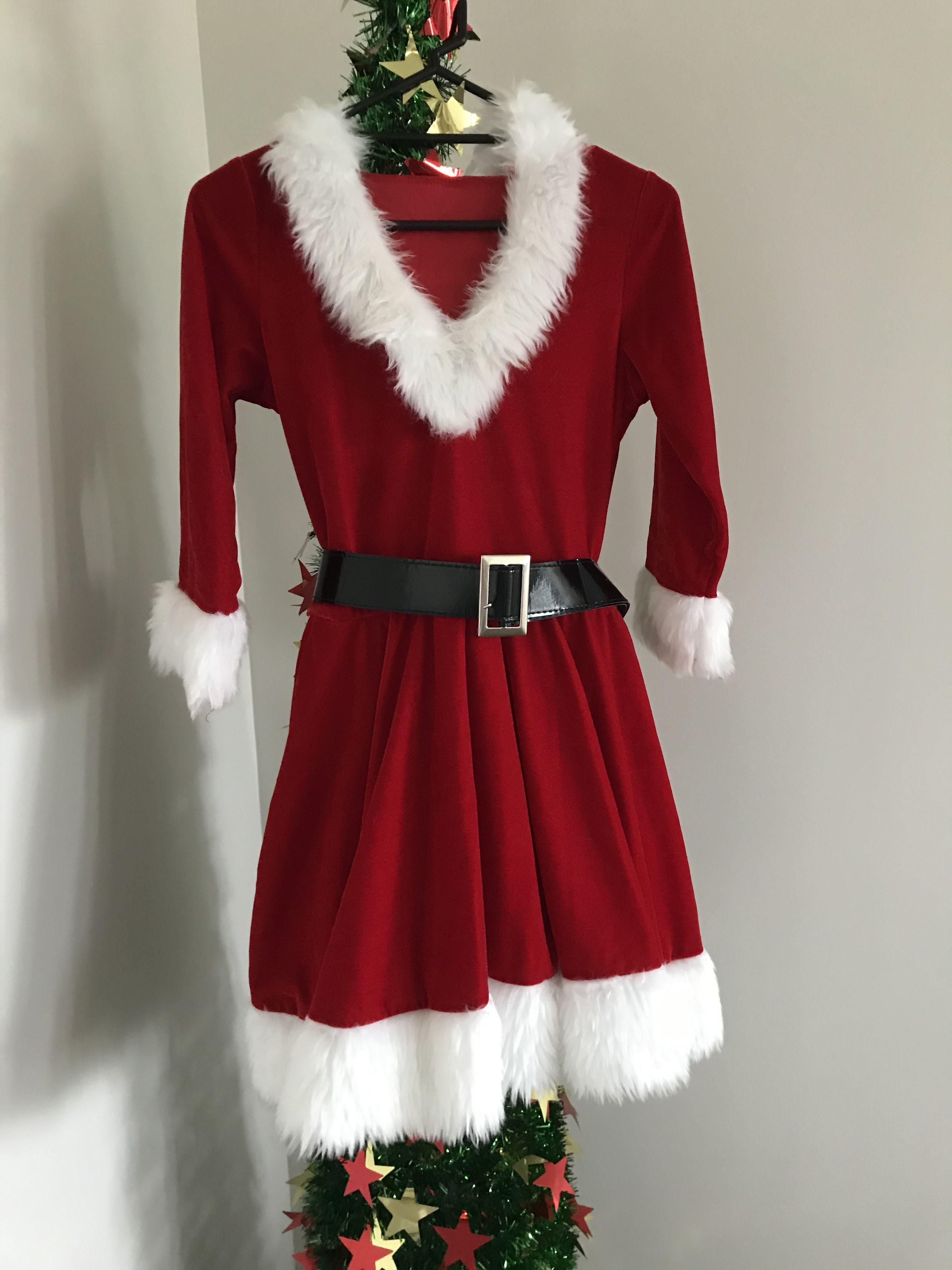 Hooded Mrs Claus dress (high quality) size 8-10