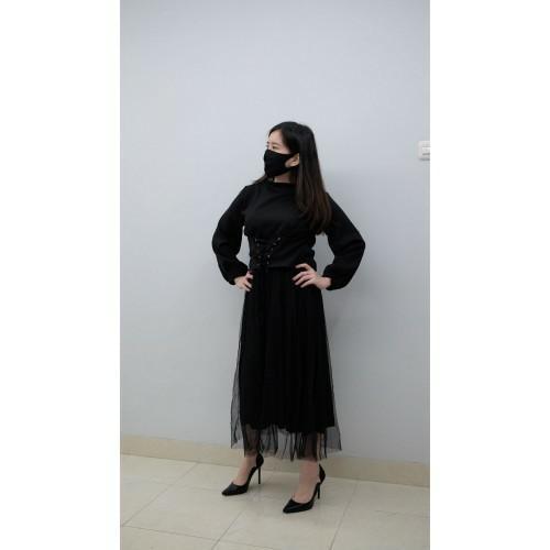 JOCI BLACK + REAL PIC Maxi Dress Set