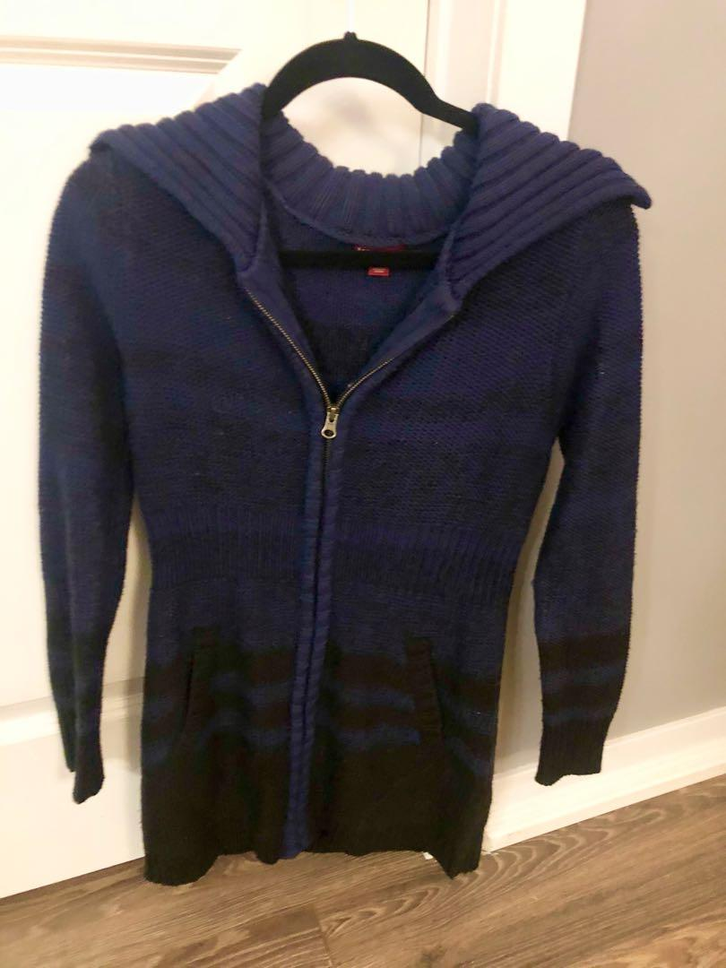 Merona blue zip up sweater (XS)