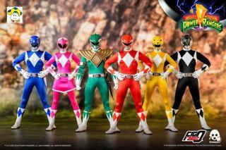 Pre-Order for 1/6th Scale Collectible Figure - Mighty Morphin Power Rangers - Core Rangers + Green Ranger Six-Pack