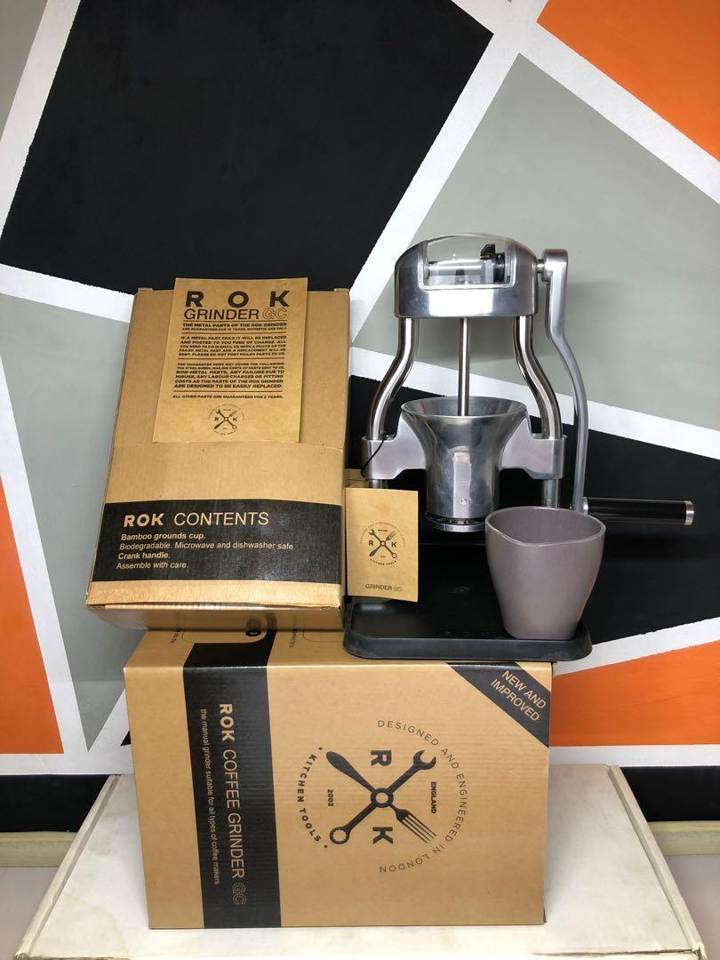 rok manual grinder gc + alat kopi manual