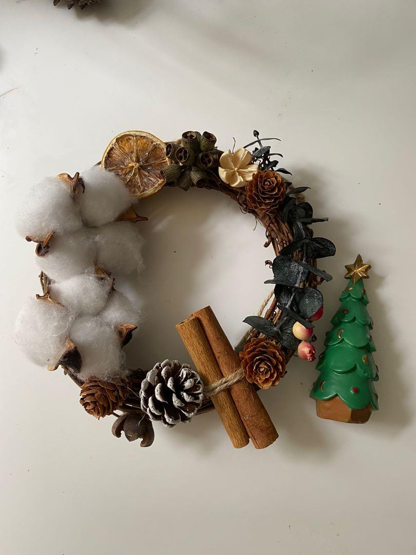 Rustic Christmas Wreath Garland Mini Chrismast Tree Ornament Baubles Christmas Decoration Furniture Home Decor Others On Carousell
