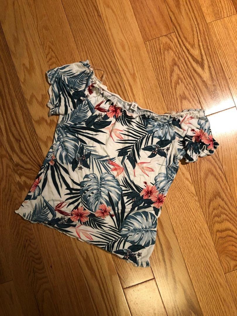 Tropical Floral Crop Top (Size XS)