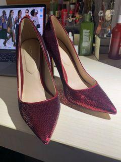 #全新未拆 Aldo Red Stessy Sequin Pumps 紅色亮片高跟鞋 #防疫