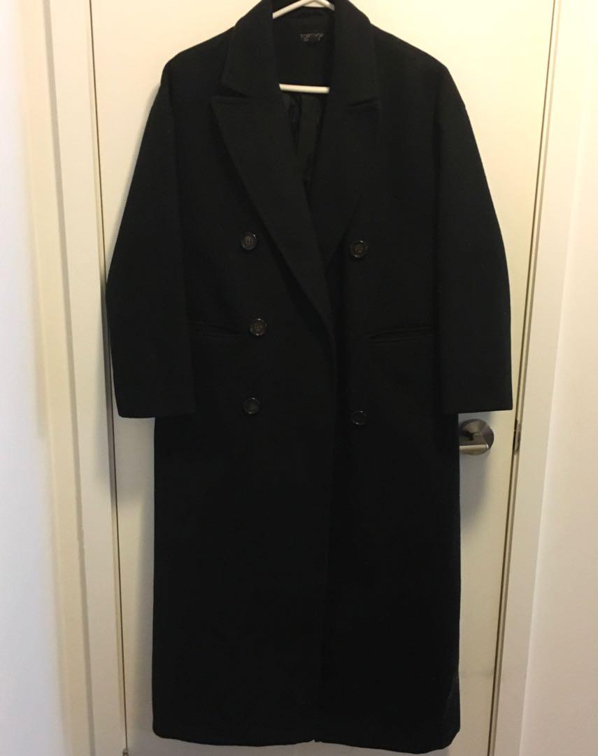 Black Longline Pea Coat