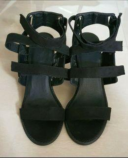 Brand New Urban Outfitters Black Block Heels. Size 8. Bought from New York.