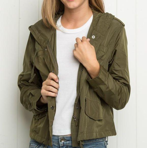 Brandy Melville Olive Green Hailey Jacket