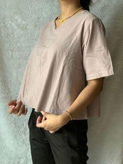 Dusty Cropped Blouse