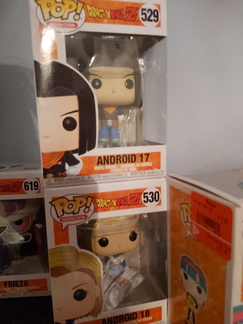 Dragon ball Z Android 17 and Android 18 FunkoPop
