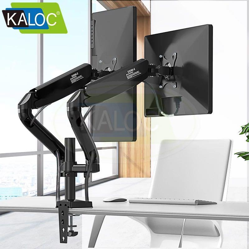 DUAL MONITOR STAND BRACKET VESA MONITOR MOUNT ARM KALOC DS90-2,  Electronics, Computer Parts & Accessories on Carousell