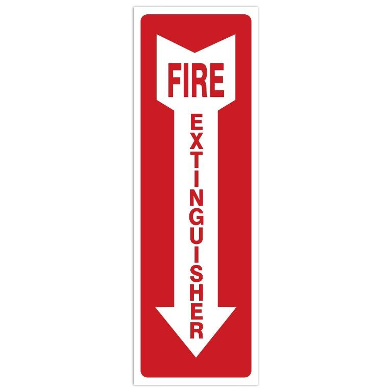 Fire Extinguisher Signs (4'' X 12'')