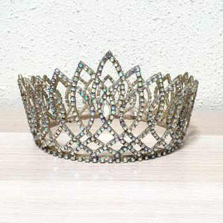 Gorgeous Rhinestones Full Crown for Bridal Wear or Cake Topper