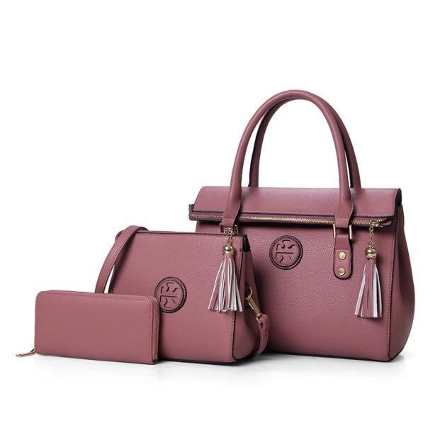 Ladies handbag 3 in 1 set