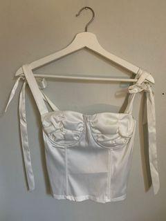 M Boutique satin corset white