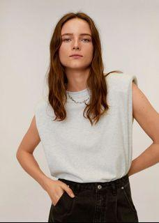 Mango Muscle Shirt in Light Grey Heather
