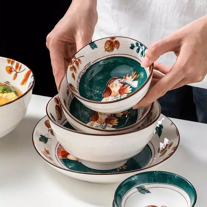 Piring Keramik Cute Cantik