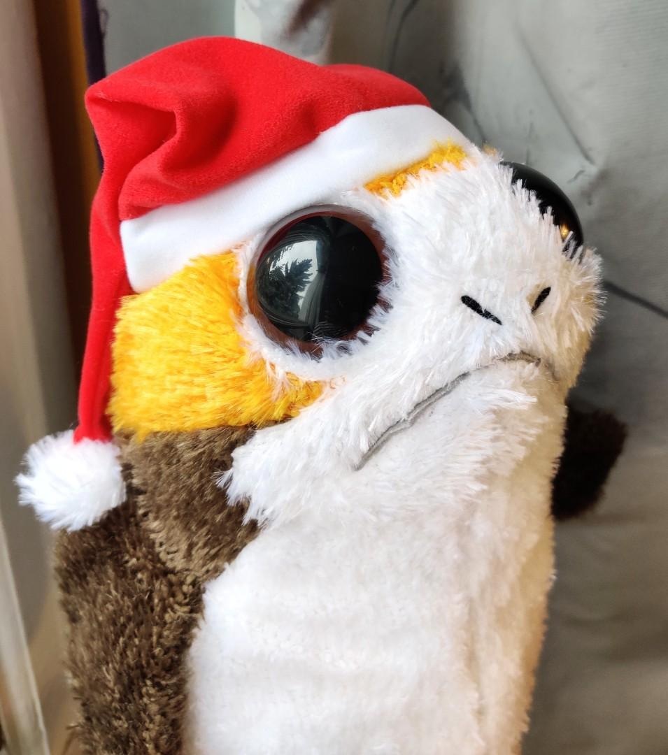 Star Wars Christmas Porg stuffed toy