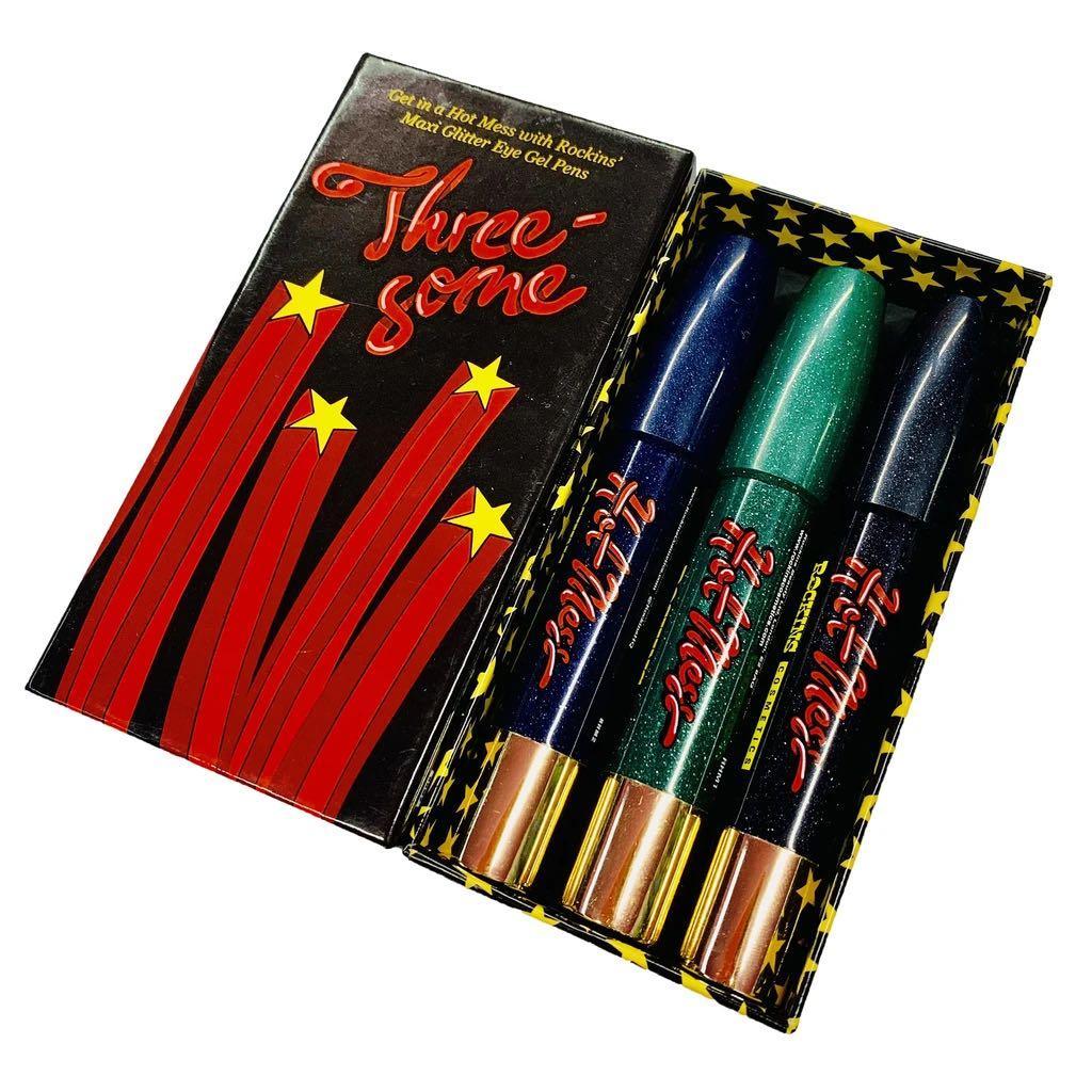 BRAND NEW!!! ROCKIN COSMETICS |'HotMess Threesome' Glitter Gel Eye Pens