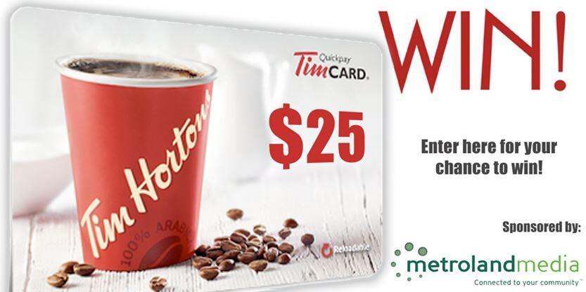 Tims gift card $25 for $20