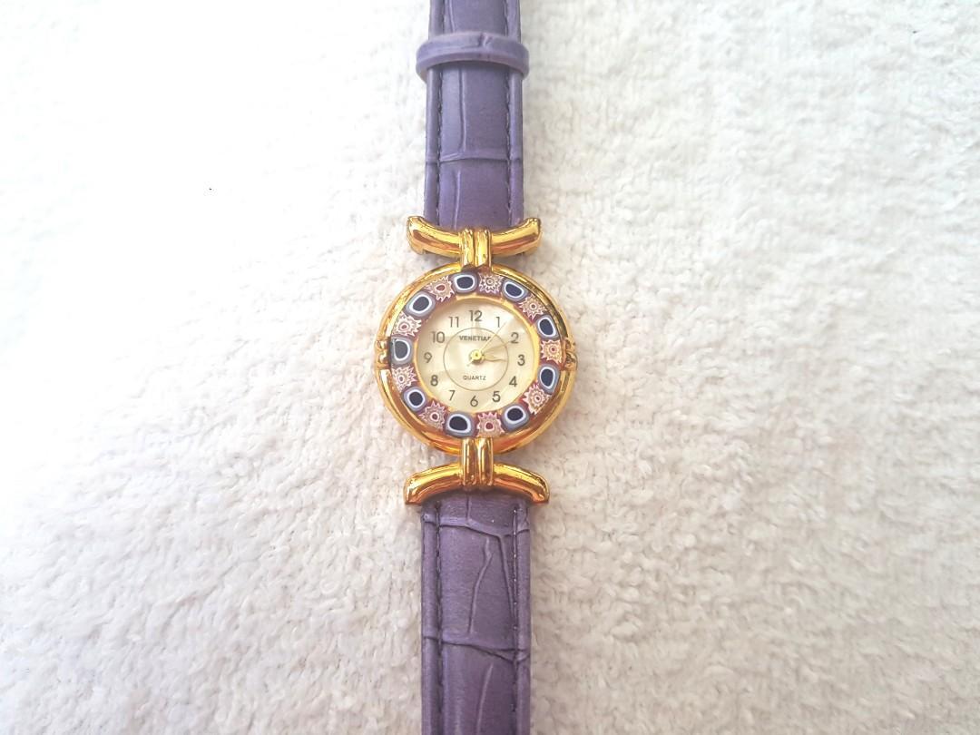 Venetian Crystal watch in box NEW BATTERY