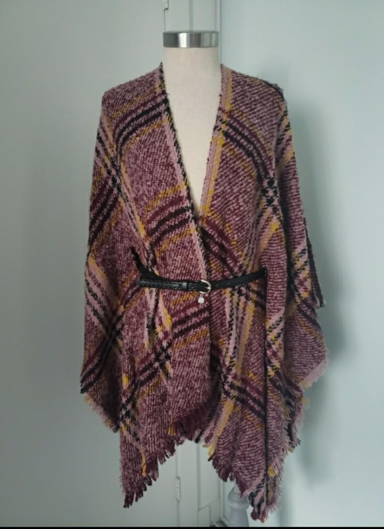 Vince Camuto Belted Poncho