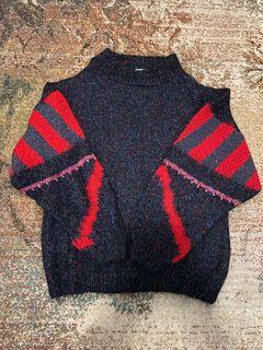 Vintage WOOL Glittery Mockneck Sweater