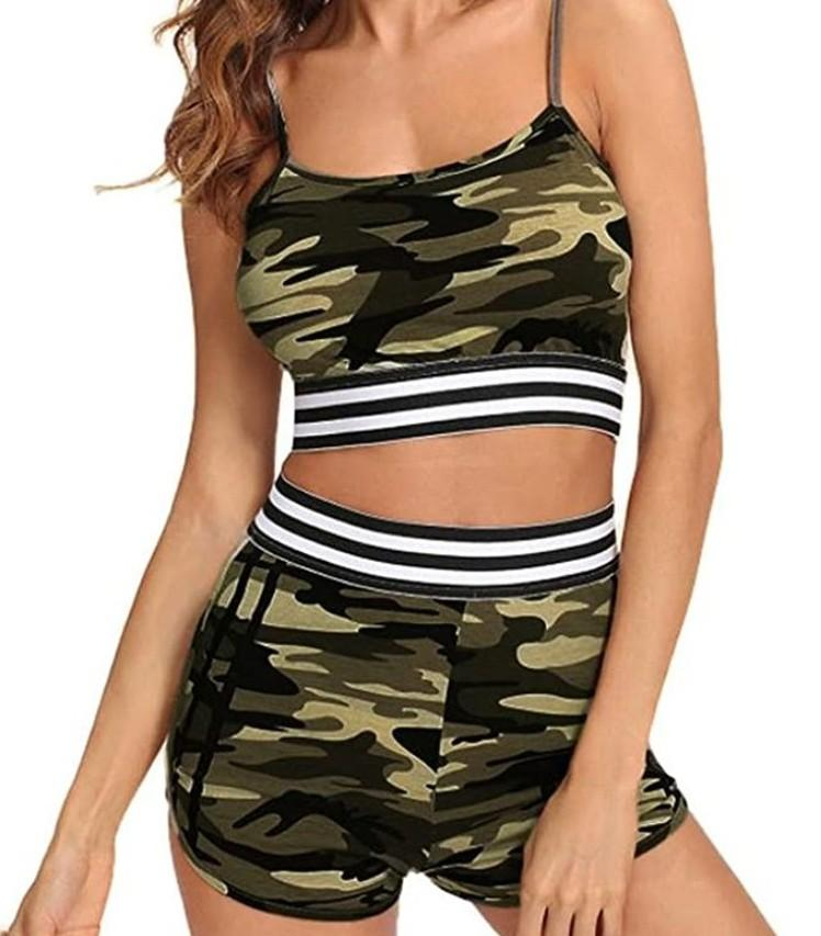 WOMENS 2pc CAMO OUTFIT!
