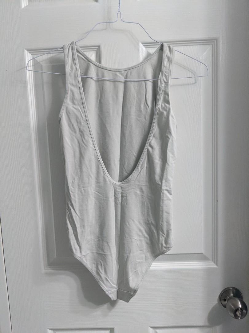 Aritzia Light Gray Backless Body Suit (Small)