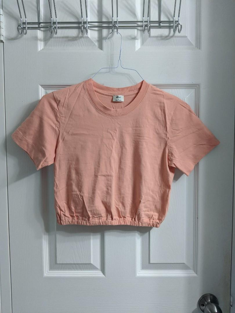 Aritzia Wilfred Coral Pink Pilaf Crop Top (Small)