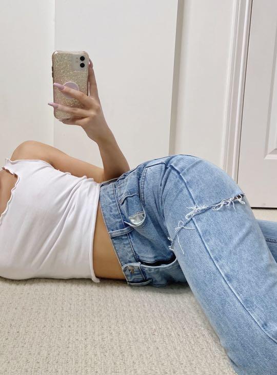 BNWT mom jeans size 6-8