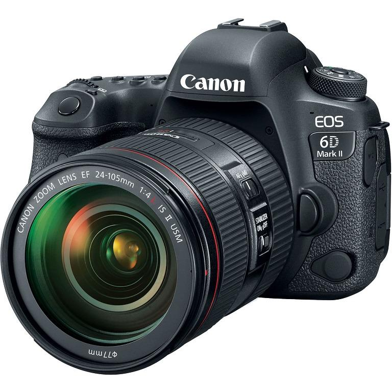 Canon EOS 6D Mark II DSLR Camera with 24-105mm f/4L II Lens Professional with Freebies