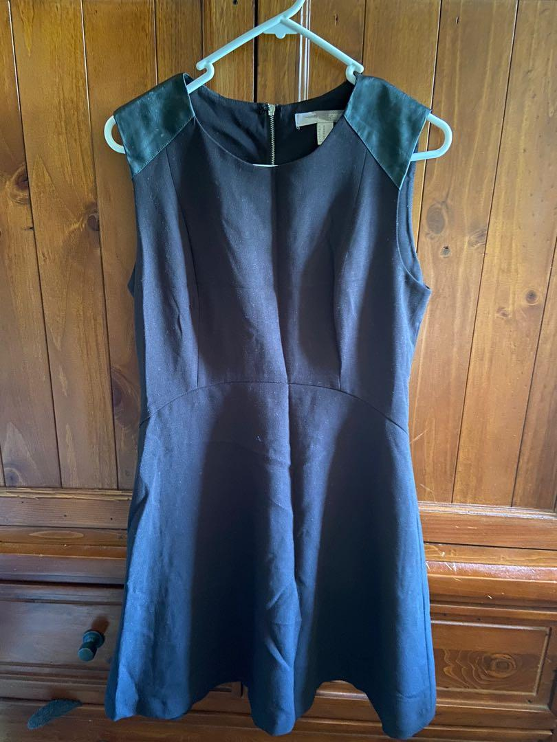 Forever21 dress with faux leather shoulder patches