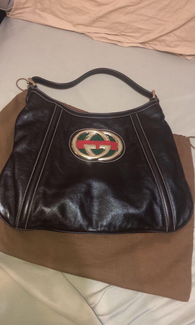 Gucci web hobo bag