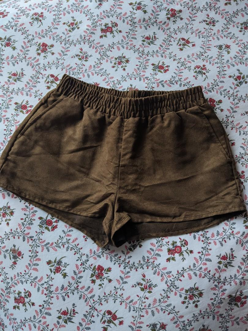 H&M Suede Brown Shorts (Size 6)