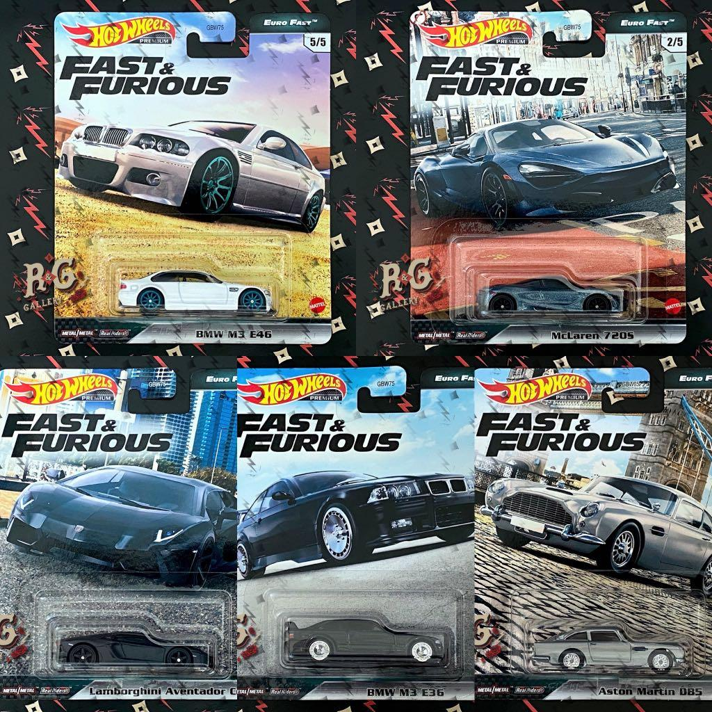 In Stock Euro Fast Fast Furious Hot Wheels Premium Bmw M3 E36 E46 Mclaren