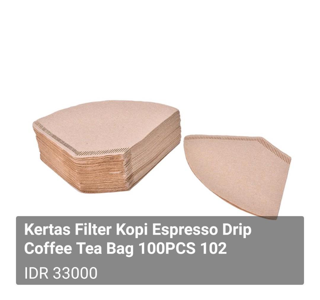 Kertas Filter Kopi Espresso Drip Coffee Tea Bag 100PCS 102