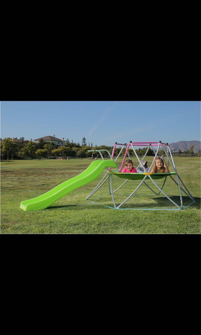 Kids dome climber with 6ft slide