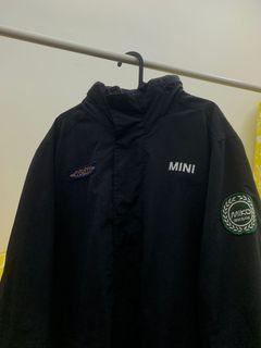 mini cooper jacket with a hidden hoodie