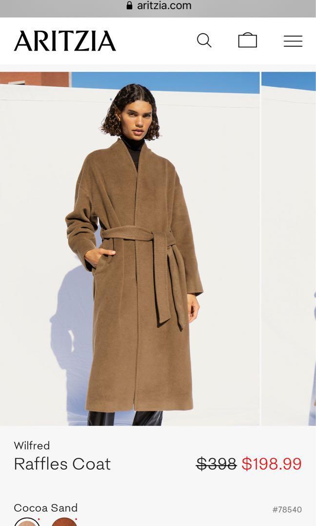Plus overcoat Aritzia Camel Coat BNWT