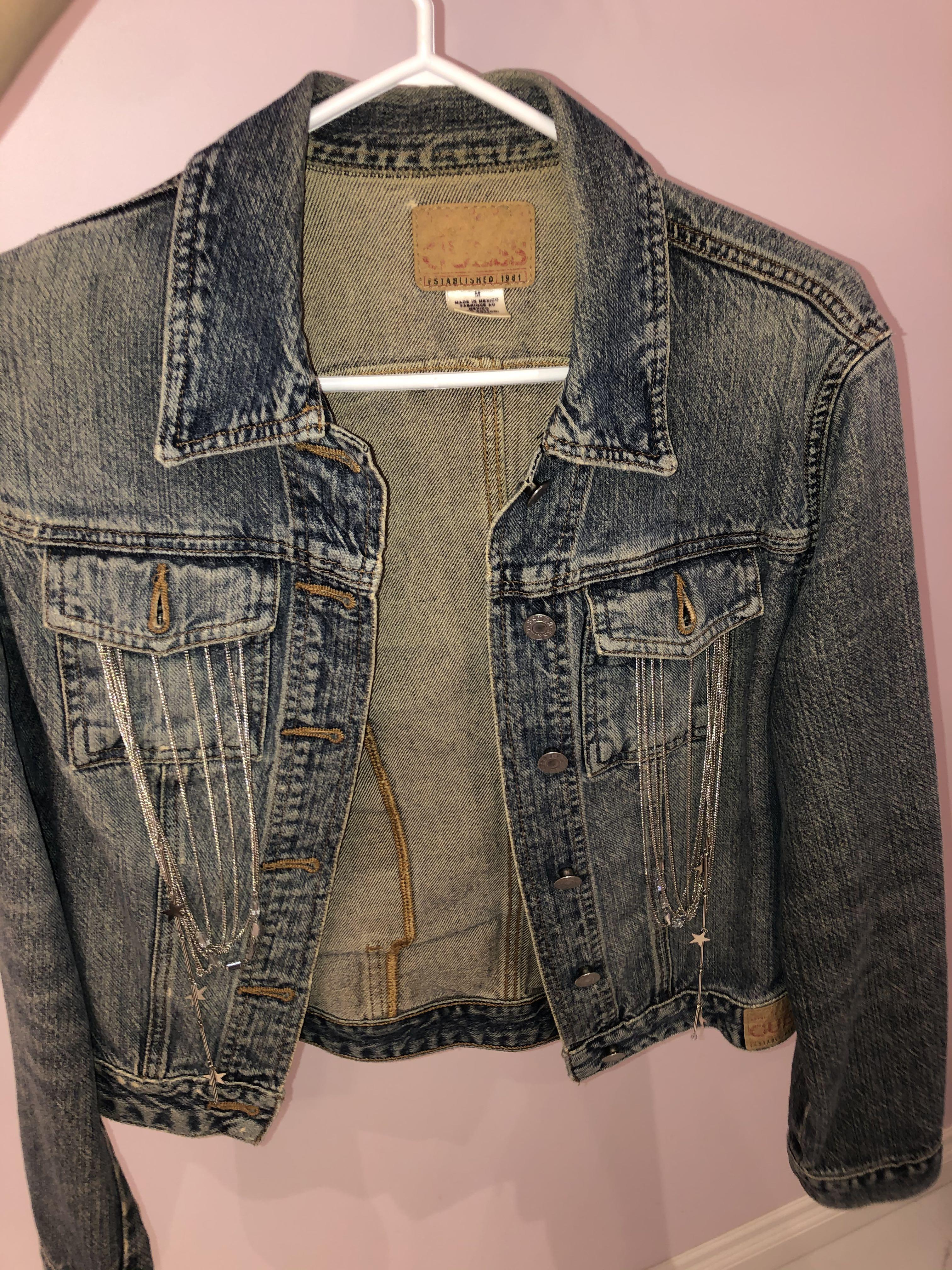 Reworked guess jean jacket