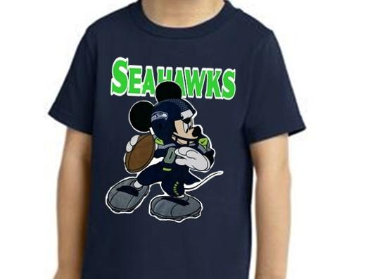 Seattle Seahawks 'Mickey Mouse Toddler Tee 4T sm