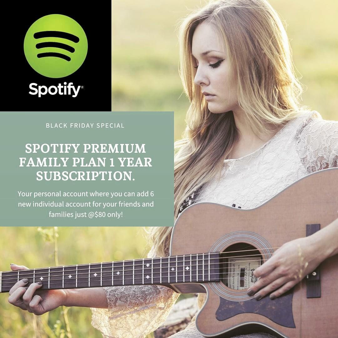 SPOTIFY PREMIUM FAMILY PLAN 1 YEAR SUBSCRIPTION