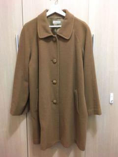 拉克蘭袖古著風毛料大衣