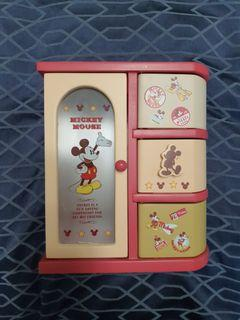 BNIB Mickey Mouse Wooden Jewelry Box
