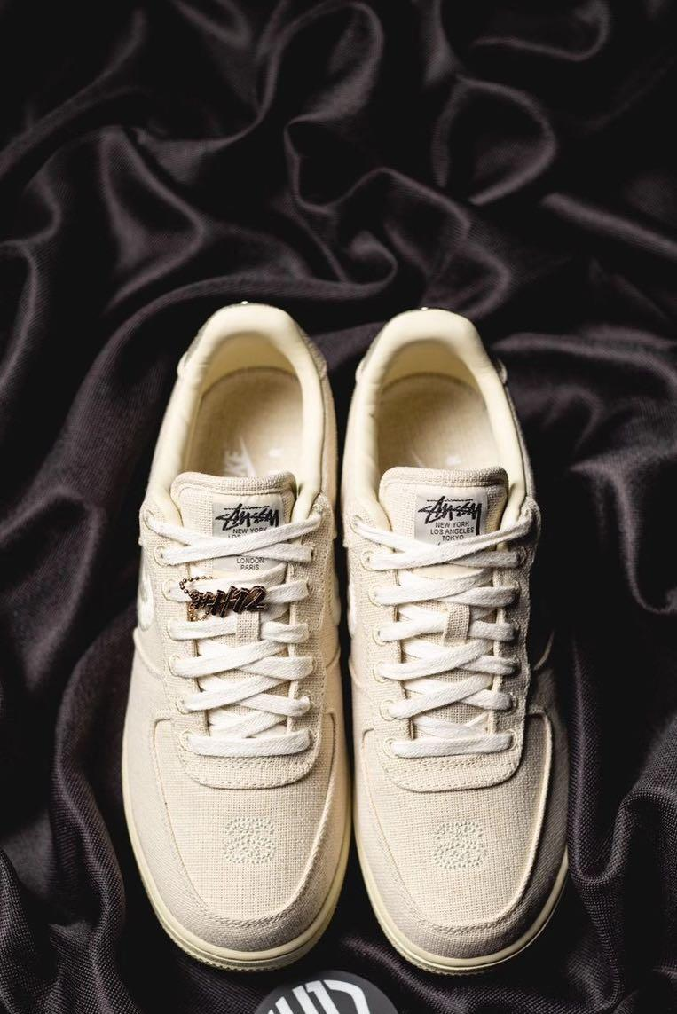 FACTORY] NIKE X STUSSY 'FOSSIL' Air Force 1 AF1 sneakers, Men's ...