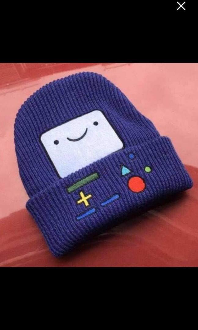 Hand Knitted Adventure Time BMO Beanie/Hat/Skullie/Skullcap Multicolors