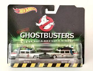 Hotwheels Ghostbusters Die-Cast Ecto-1 & Ecto-1A 2-Pack