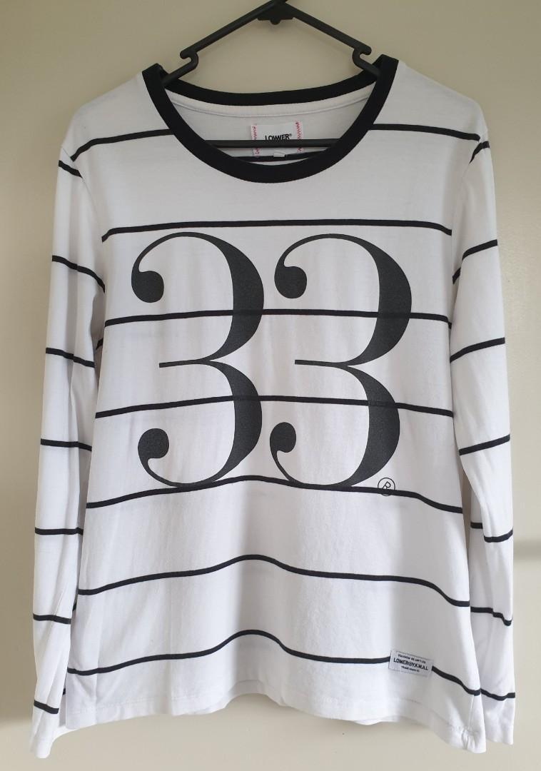 Ilabb white with black stripe top